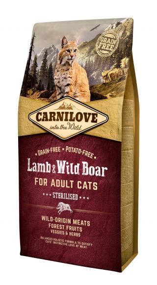 Carnilove Cat Grain Free Lamb&Wild Boar Adult Sterilised 6kg