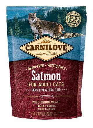 Carnilove Cat Grain Free Salmon Adult Sensitive&Long Hair 400g