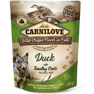 Carnilove Dog Pouch Paté Duck with Timothy Grass 300 g