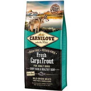 Carnilove fresh carp & trout shiny hair & healthy skin for adult dogs 12 kg