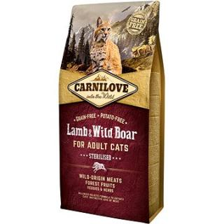 Carnilove lamb & wild boar for adult cats – sterilised 6 kg