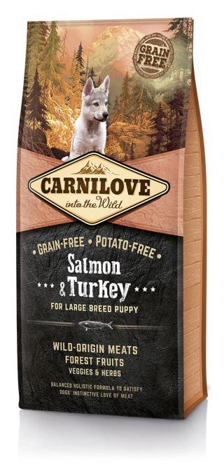 Carnilove Salmon & Turkey for LB Puppy 12kg