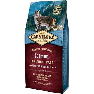 Carnilove salmon for adult cats – sensitive & long hair 6 kg