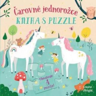 Čarovné jednorožce Kniha s puzzle - Wrightová Louise