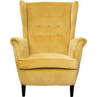 Carryhome KŘESLO, dřevo, textil, žlutá - žlutá