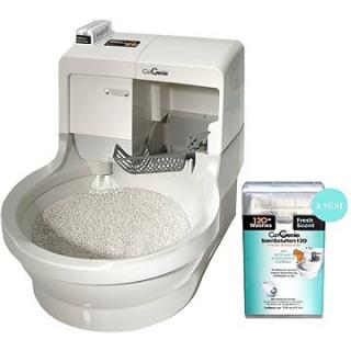 CatGenie 120  Robotická toaleta bez poklopu   Sanisolution cartridge s vůní