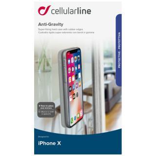 Cellularline ANTI-GRAVITY Adhezivní zadní kryt pro Apple iPhone X/XS