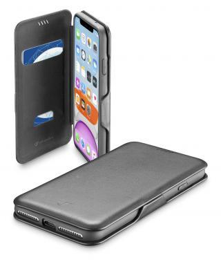 CellularLine Book Clutch flipové pouzdro pro Apple iPhone 11, černé