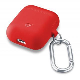 Cellularline Bounce silikonový kryt pro Apple AirPods 1 & 2, červený