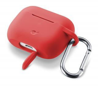 Cellularline Bounce silikonový kryt pro Apple AirPods Pro, červený
