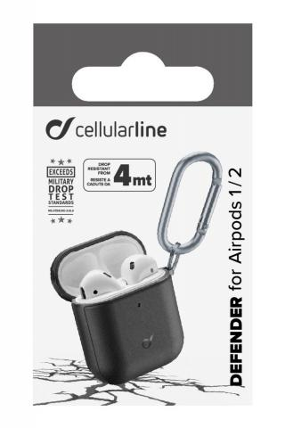 Cellularline Defender Ochranný kryt pro Apple AirPods 1&2, černý