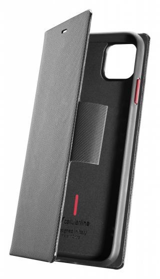 Cellularline Elemento Dark Stone flipové pouzdro pro Apple iPhone 11 Pro, černé