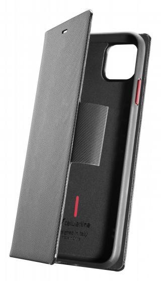Cellularline Elemento Dark Stone flipové pouzdro pro Apple iPhone 11,černé