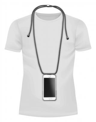 Cellularline Neck-Case zadní kryt čirý pro Apple iPhone 6/7/8, s černou šňůrkou