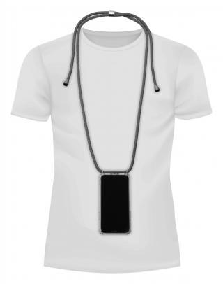 Cellularline Neck-Case zadní kryt čirý pro Apple iPhone X/XS, s černou šňůrkou