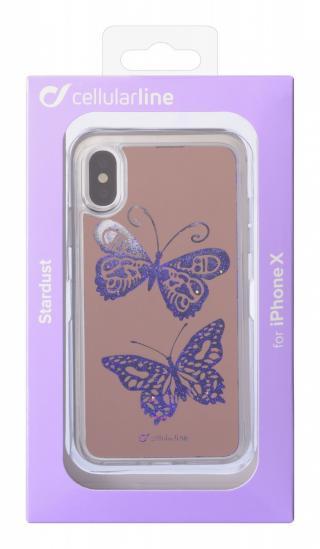 Cellularline Stardust silikonové pouzdro Apple iPhone X/XS, motiv motýl