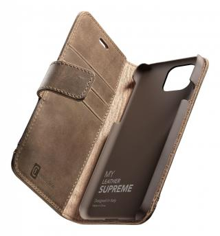 Cellularline Supreme flipové pouzdro Apple iPhone 12 Pro Max brown