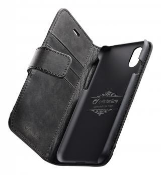 Cellularline Supreme flipové pouzdro pro Apple iPhone XS Max, černé