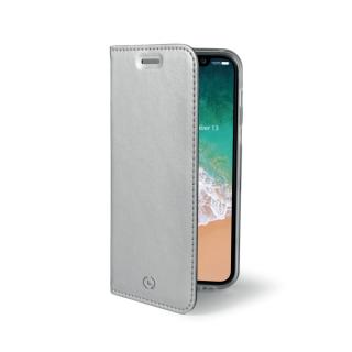 CELLY Air Ultra tenké flipové pouzdro Apple iPhone X silver