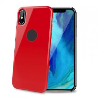 CELLY Gelskin silikonové pouzdro pro Apple iPhone XS Max, red