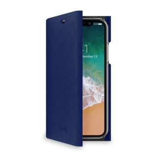 CELLY Shell flipové pouzdro Apple iPhone X blue