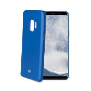 CELLY Softmatt silikonové pouzdro pro Samsung Galaxy S9, matné provedení, modré