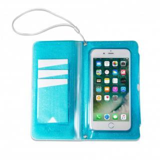 CELLY Splash Wallet voděodolné pouzdro na telefony 6.2 , modré