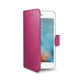 CELLY Wally flipové pouzdro pro Apple iPhone 7/8 růžové