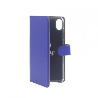CELLY Wally flipové pouzdro pro Apple iPhone XR, modré