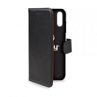 CELLY Wally flipové pouzdro pro Apple iPhone XS Max, černé