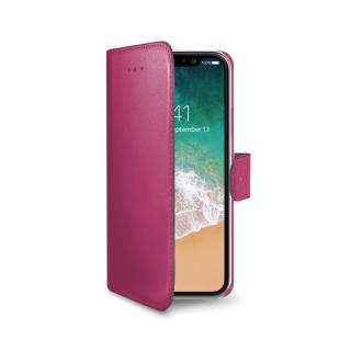 CELLY Wally flipové pouzdro pro Apple iPhone X/XS pink