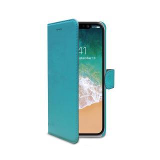 CELLY Wally flipové pouzdro pro Apple iPhone X/XS tyrkysová