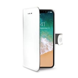 CELLY Wally flipové pouzdro pro Apple iPhone X/XS white
