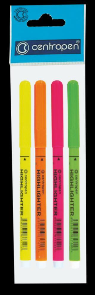 Centropen Zvýraznovače 2532, sada 4 barev