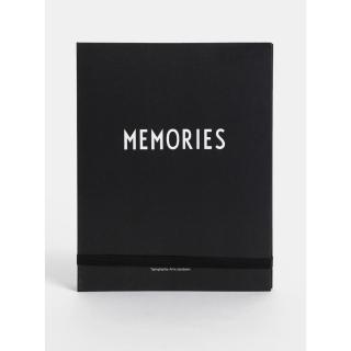 Černá foto kniha se samolepkami Design Letters Memories One size