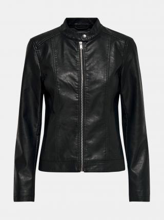 Černá koženková bunda Jacqueline de Yong Stormy dámské XS