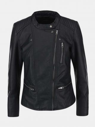 Černá koženková bunda ONLY Freya dámské XS