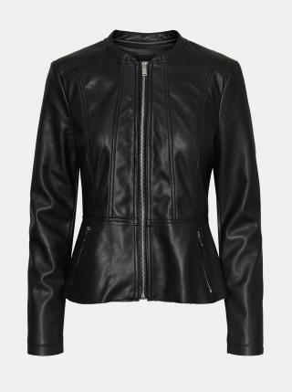 Černá koženková bunda VERO MODA Butteralba dámské XS