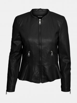 Černá koženková bunda VERO MODA dámské S