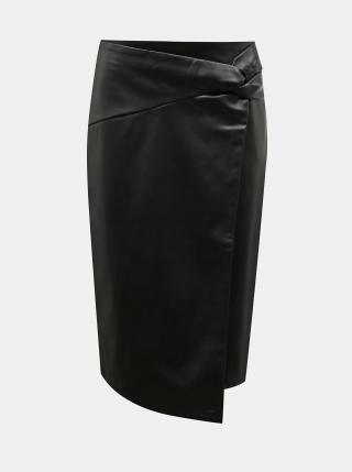 Černá koženková sukně Dorothy Perkins dámské L