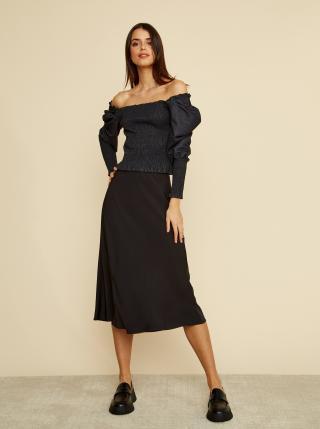 Černá saténová midi sukně ZOOT Molly dámské S