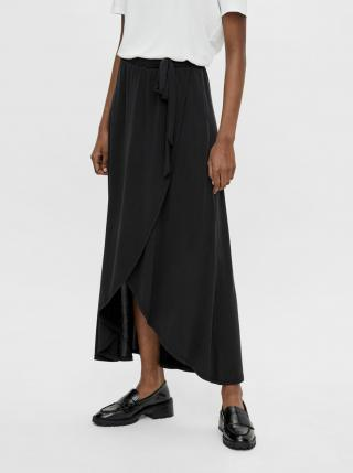 Černá zavinovací maxi sukně .OBJECT Jannie dámské S