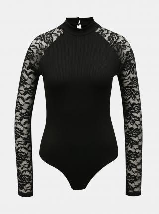 Černé body s krajkovými rukávy TALLY WEiJL dámské černá XXS