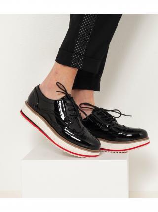 Černé brogue boty CAMAIEU dámské černá 37