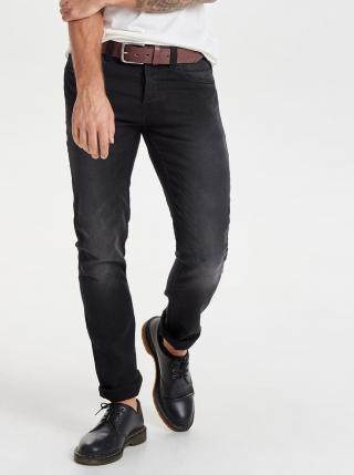 Černé džíny slim fit ONLY & SONS Loom pánské černá XS