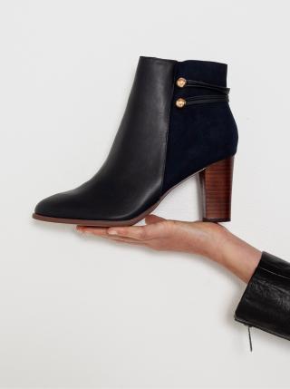 Černé kotníkové boty na podpatku CAMAIEU dámské černá 38