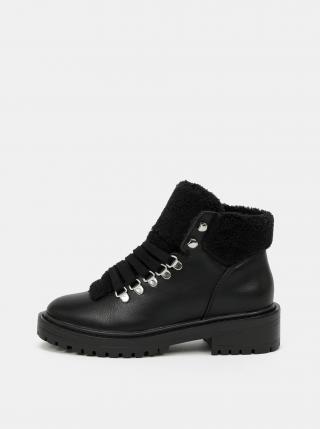 Černé kotníkové zimní boty ONLY dámské černá 37
