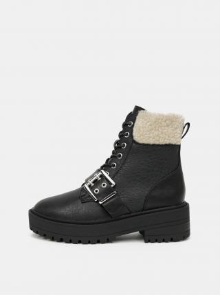 Černé kotníkové zimní boty ONLY dámské černá 40