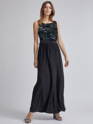 Černé maxi šaty s flitry Dorothy Perkins dámské černá S