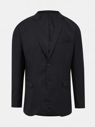 Černé oblekové sako s příměsí vlny Jack & Jones Solaris pánské černá S